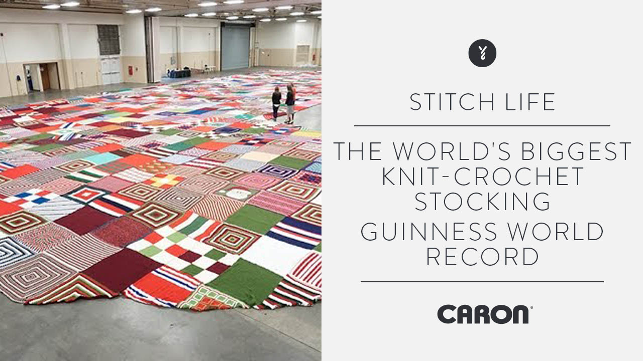The World's Biggest Knit/Crochet Stocking-  Guinness World Record
