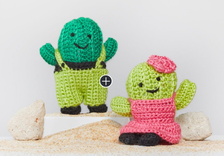 Easy Agave and Aloe Crochet Cactus