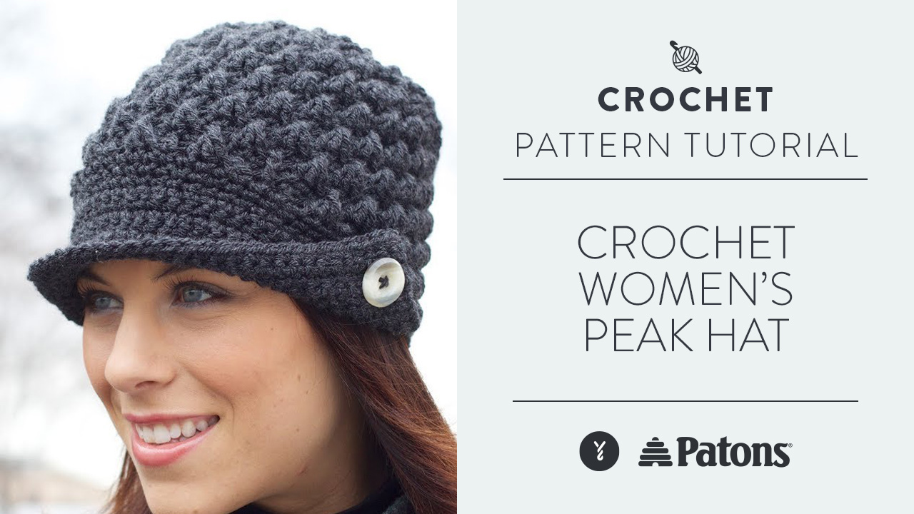 Crochet Women's Peak Hat