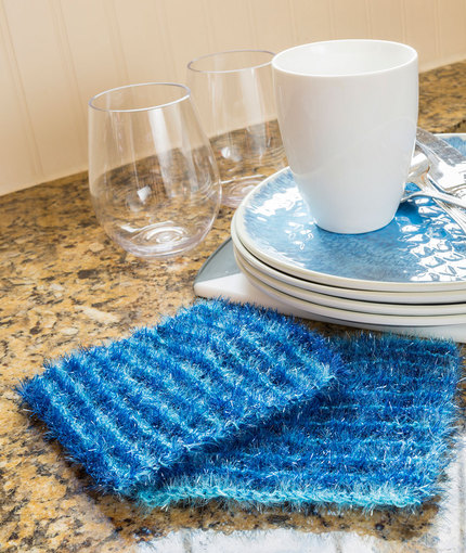 Striping Sparkle Scrubby Free Knitting Pattern LW5311