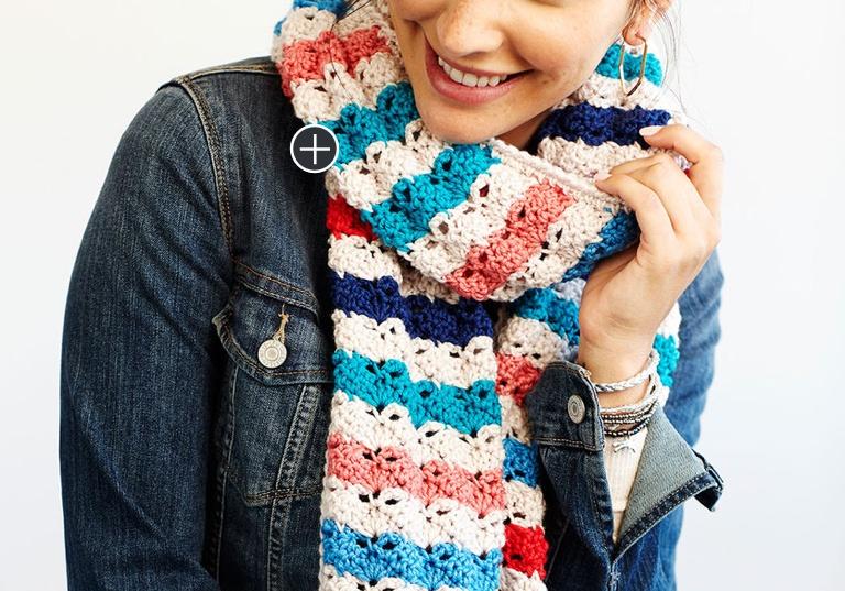 Easy Crochet Medley Merino Chic Scarf