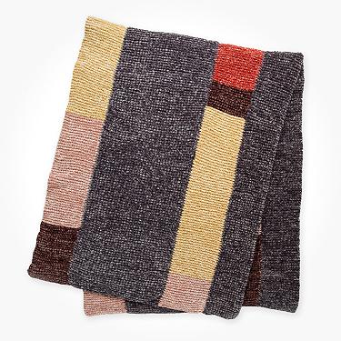 Bernat velvet stripes knit blanket