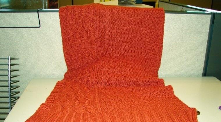 Convert a Rectangular Shawl into a Shrug by Guest Blogger Joan Barnett
