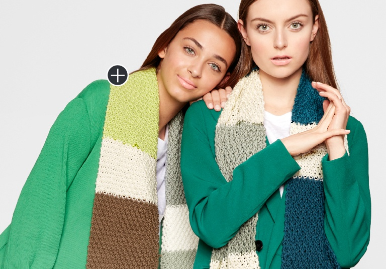 Easy Knit Color Swatch Scarf