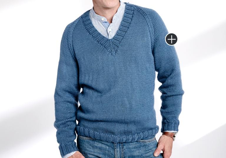 Easy Knit V-Neck Pullover