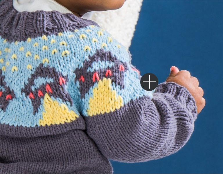 Bernat UFO Yoke Knit Sweater