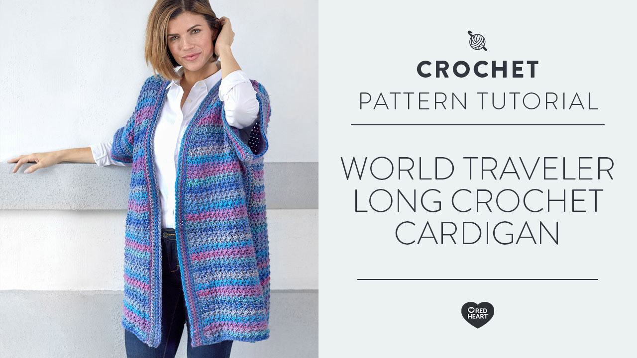World Traveler Long Crochet Cardigan