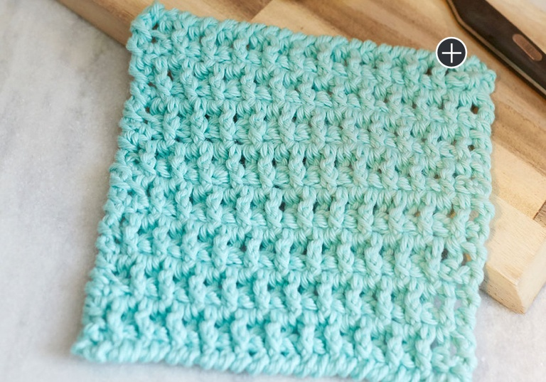 Easy Crochet Lattice Washcloth