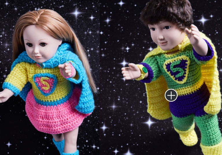 Intermediate Crochet Boy & Girl Super Heroes