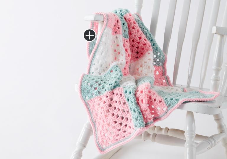 Beginner Springtime Squares Crochet Blanket