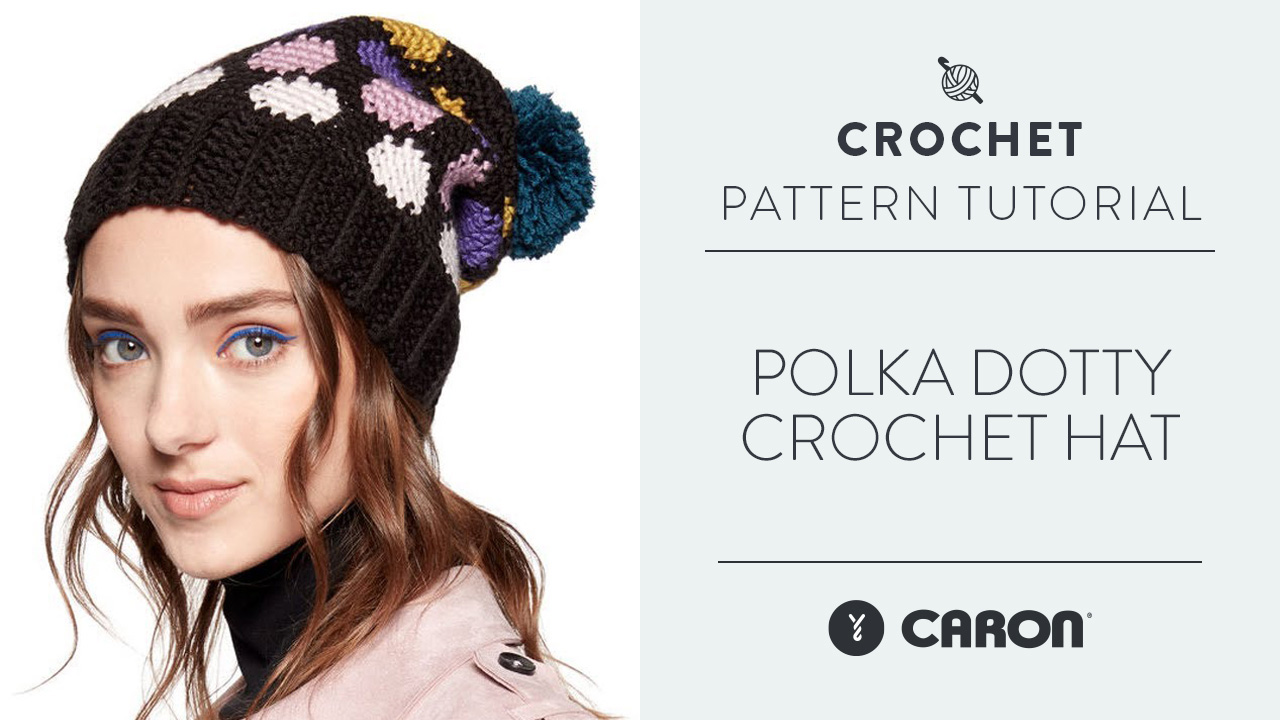 Polka Dotty Crochet Hat