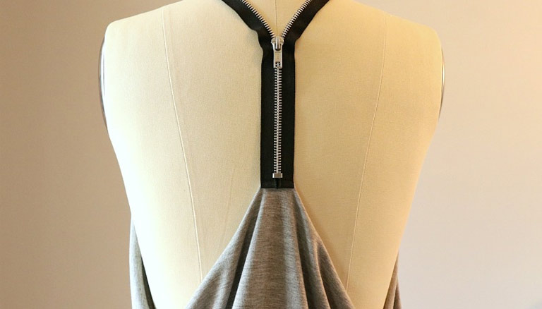 DIY: Versatile Zipper Racerback Top