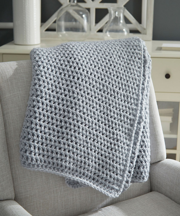Beginner Crochet Throw Free Crochet Pattern LW6012