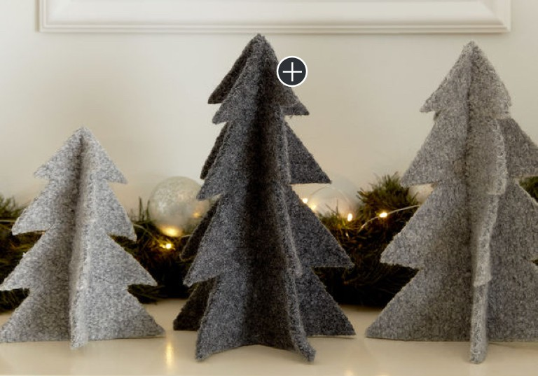 Easy Felt Knit Tree Ornaments