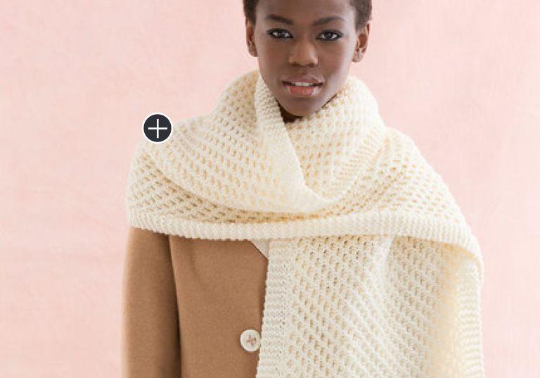 Easy Knit Honeycomb Stitch Scarf