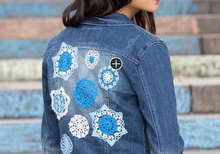 Easy Crochet Doilyed for Denim Jacket