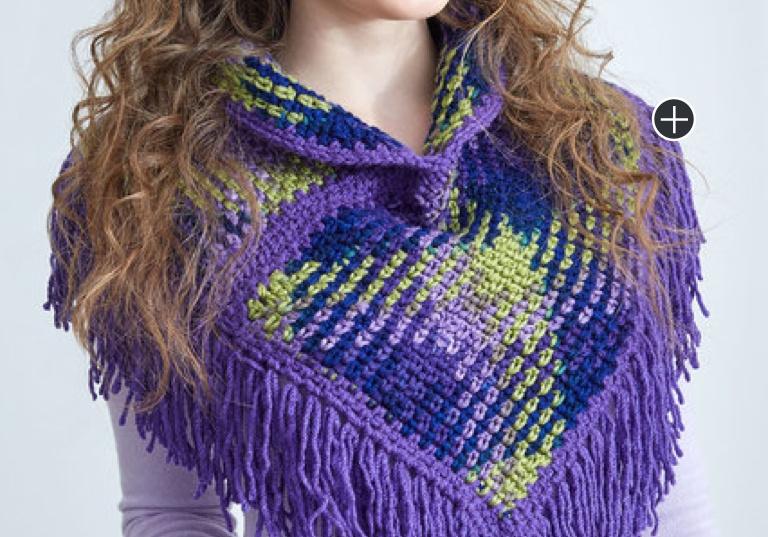 Easy Crochet Argyle Cowl