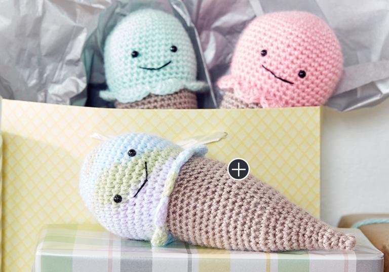 Easy Crochet Ice Cream Cone Rattle