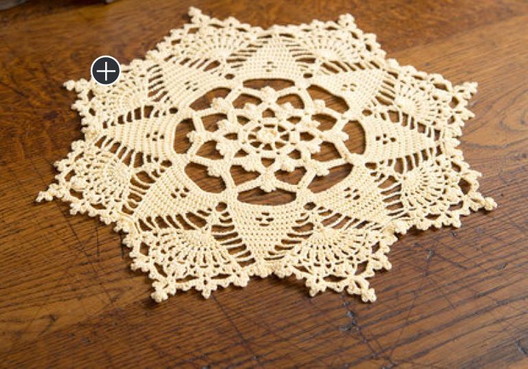 Intermediate Crochet Starshine Doily