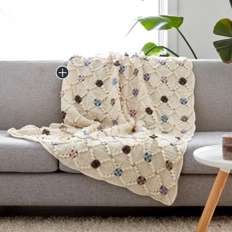 Intermediate Little Dots Will Do Ya Crochet Blanket