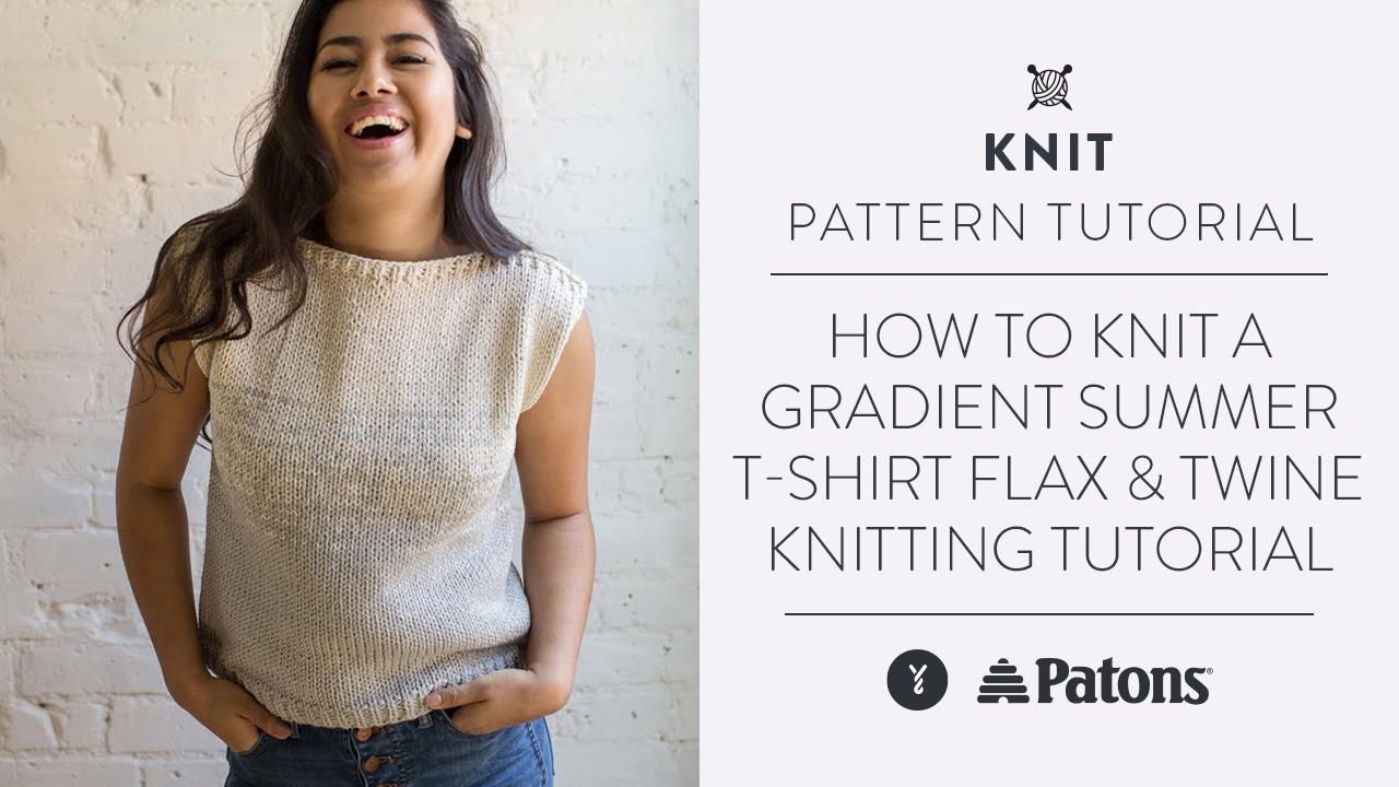 How to Knit a Gradient Summer T-Shirt | Flax & Twine Knitting Tutorial