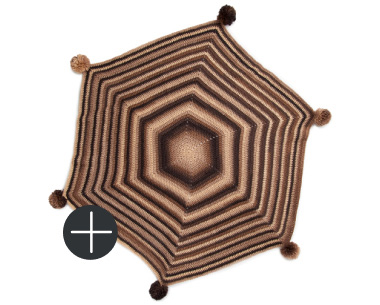 Red heart hexagonal angles crochet blanket