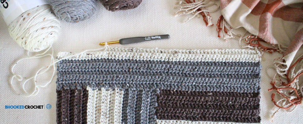 Staircase Crochet Afghan Sections