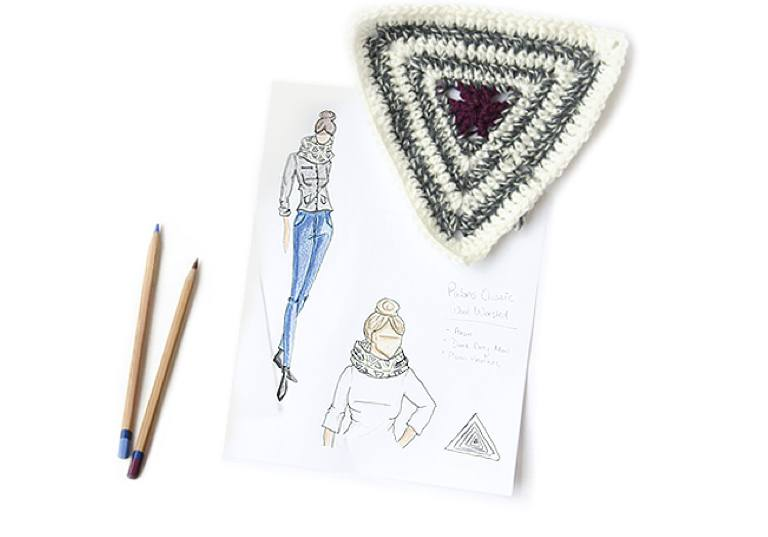 Easy Emily's Radiating Triangles Crochet Cowl