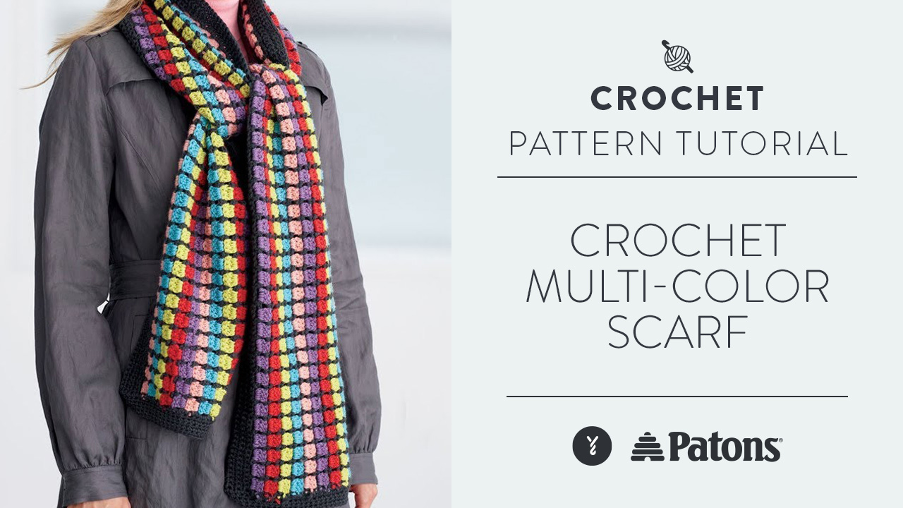 Crochet Multi-Color Scarf