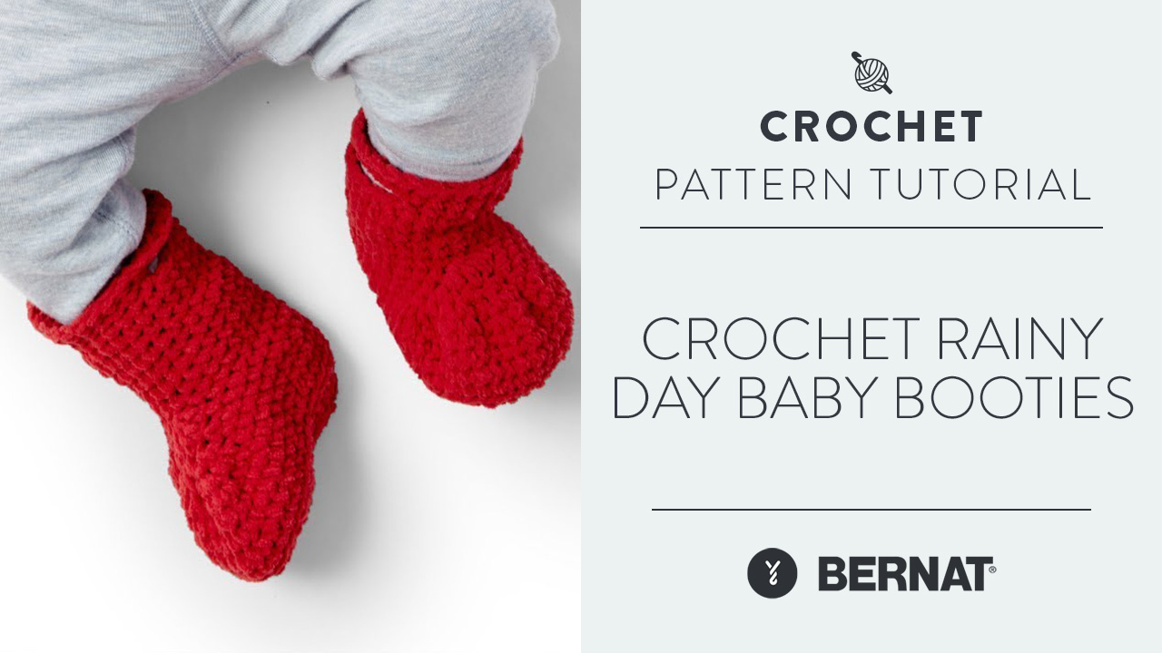 Crochet Rainy Day Baby Booties