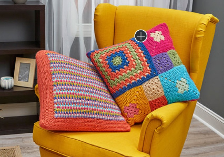 Easy Crochet Patched Persuasion Pillows