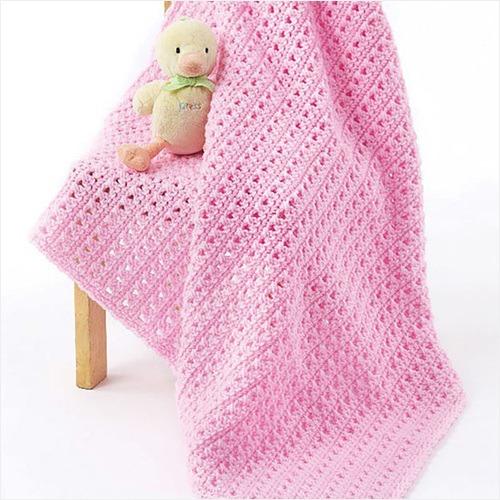 Free Crochet Pattern - One Skein Baby Blanket in Caron One Pound yarn
