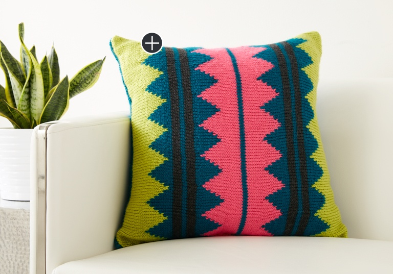 Intermediate In Vivid Color Pillow