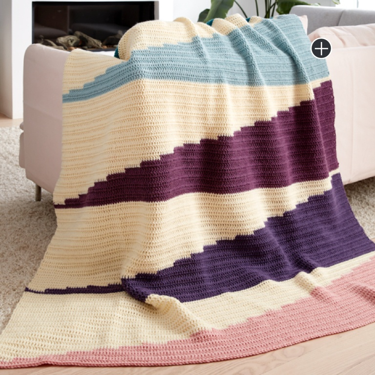 Intermediate Wedge It Crochet Blanket