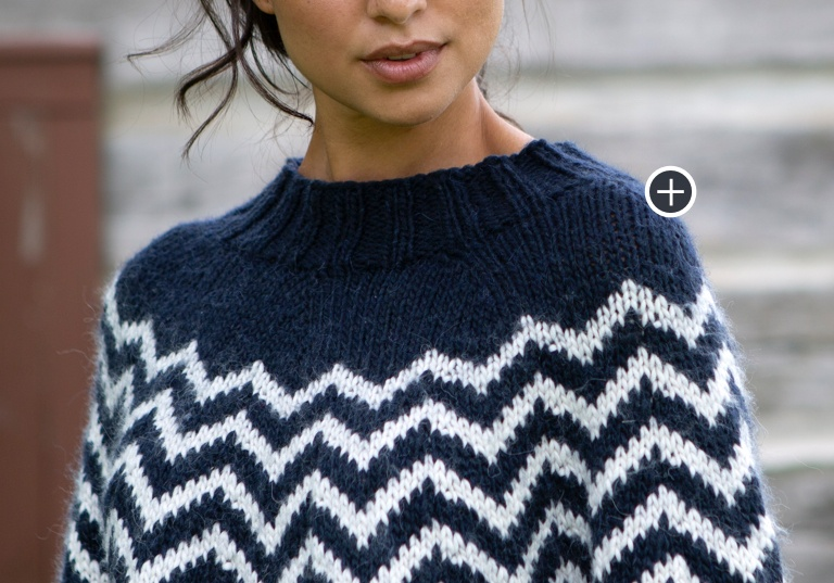 Intermediate Sharp Chevron Knit Pullover
