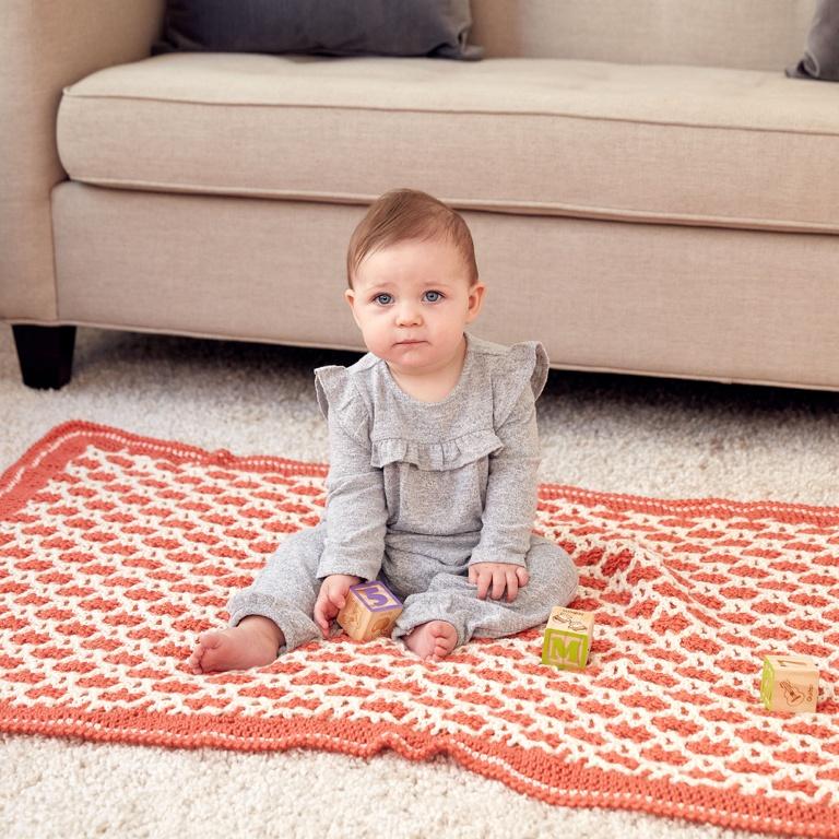 Experienced Interlocking Stitch Crochet Blanket