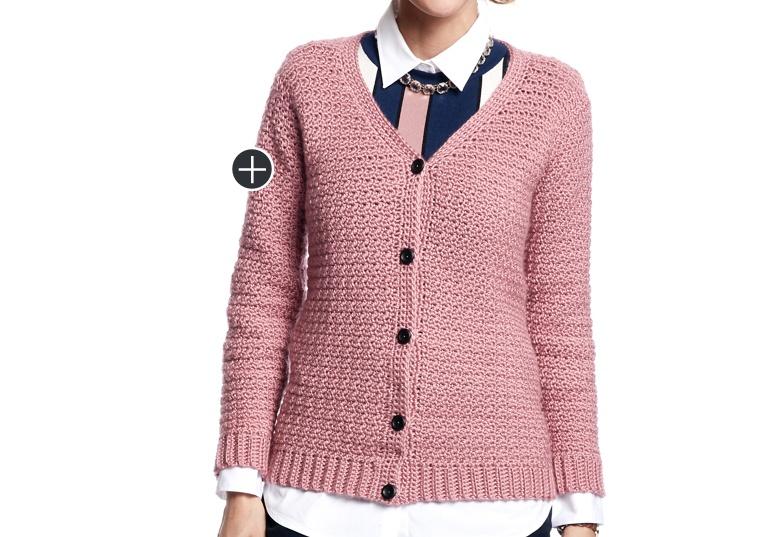 Easy Crochet V-Neck Cardigan