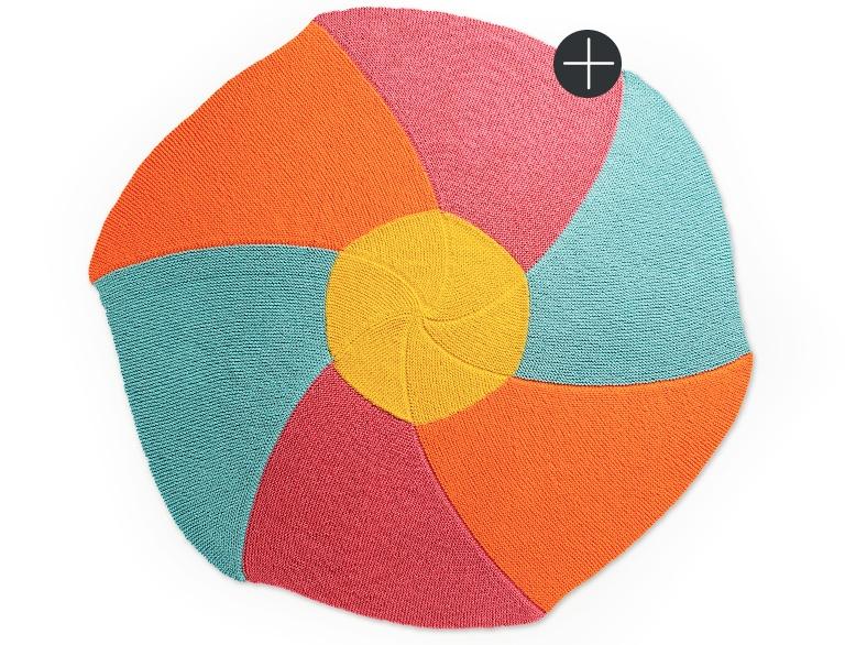 Intermediate Caron knit pinwheel posy blanket