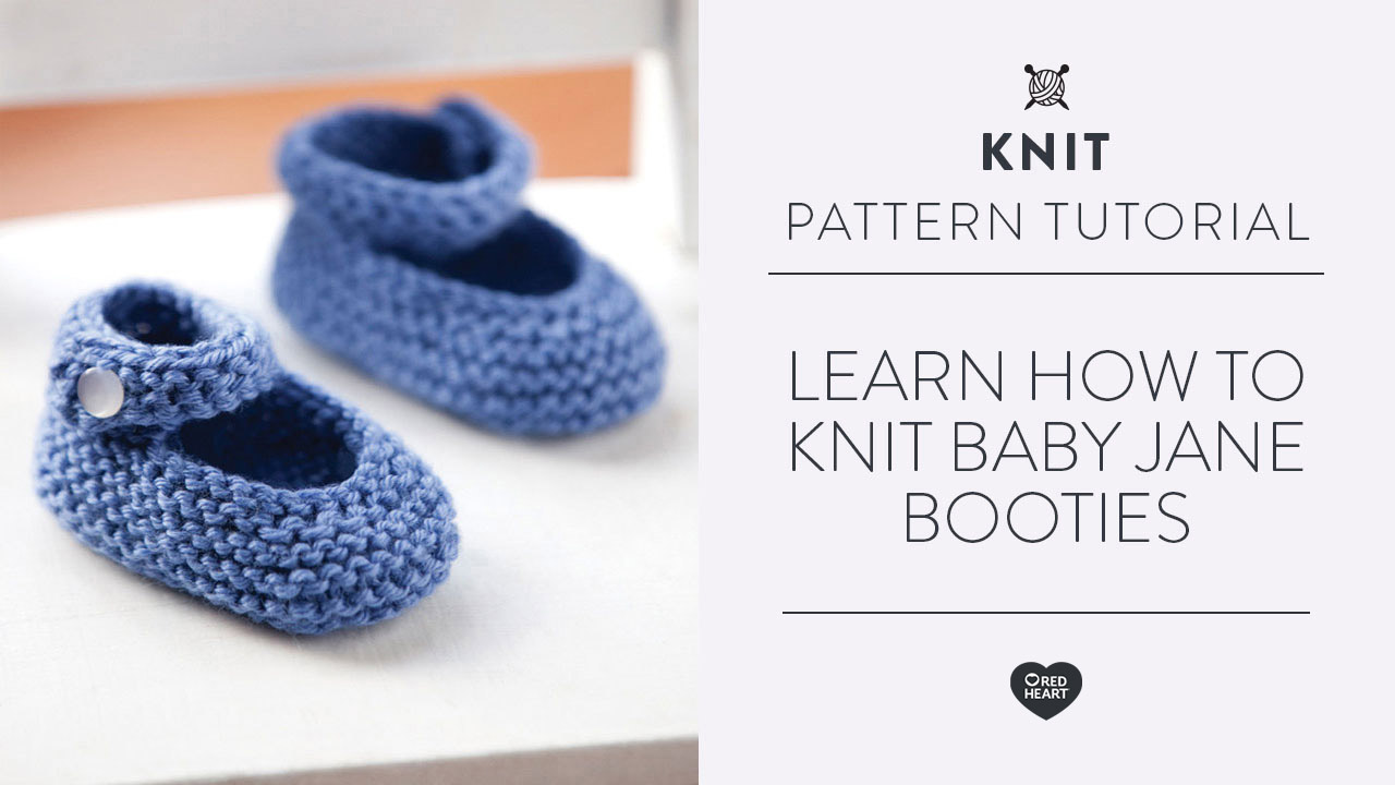 Learn How to Knit Baby Jane Booties