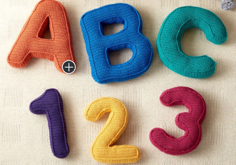 Easy ABC's and 123's Crochet Pillows