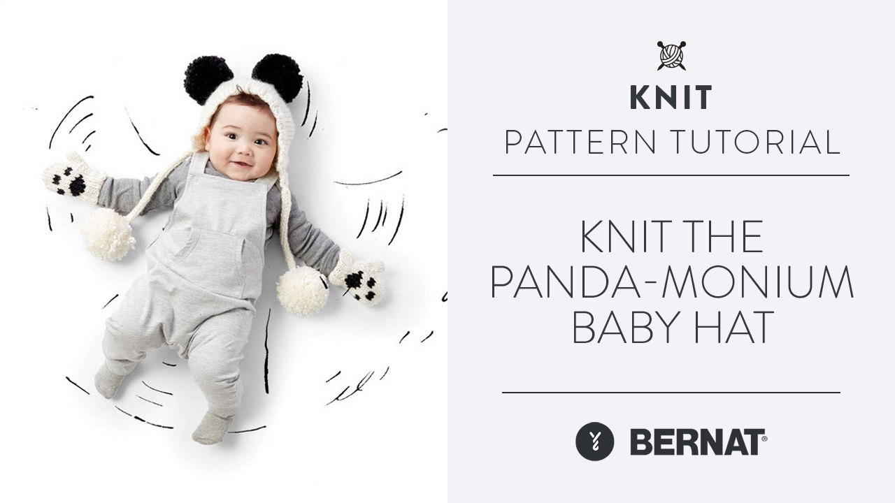Knit the Panda-monium Baby Hat