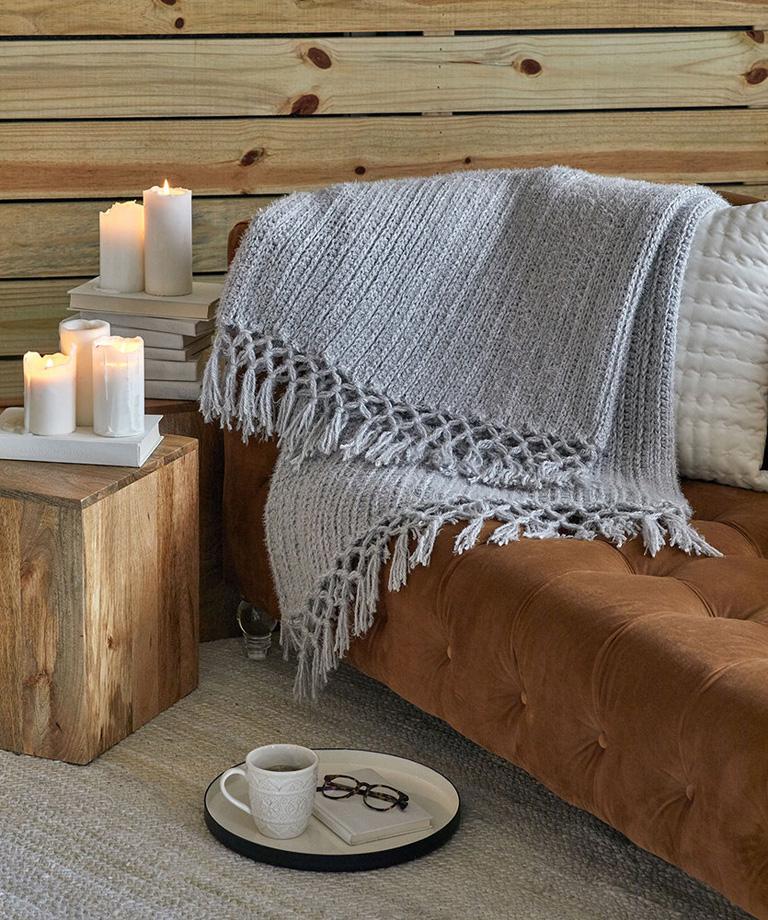 Cozy Time Fringe Throw Free Crochet Pattern LW6333