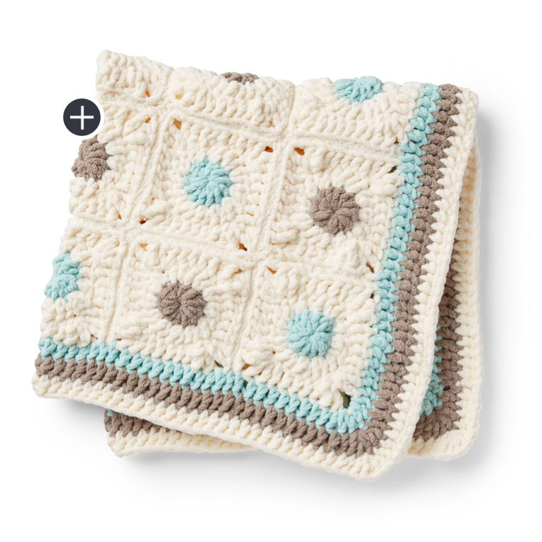 Little Dots Crochet Baby Blanket