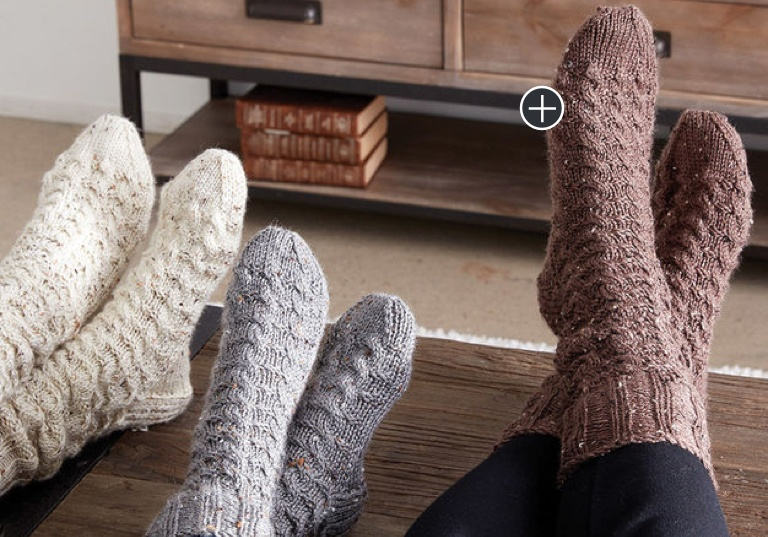 Intermediate Cozy Knit Cabin Socks
