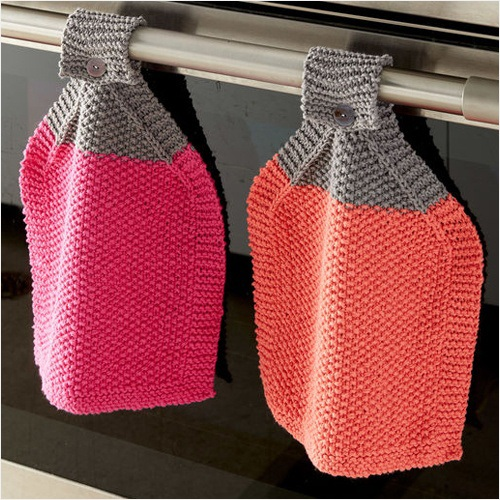 Free Knit Pattern - At Your Service Knit Dishcloth in Bernat Handicrafter Cotton yarn