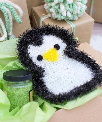 Precious Penguin Scrubby Free Crochet Pattern LW5327