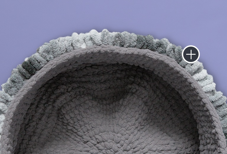 Bernat Blanket-EZ Loopy Edge Crochet Basket