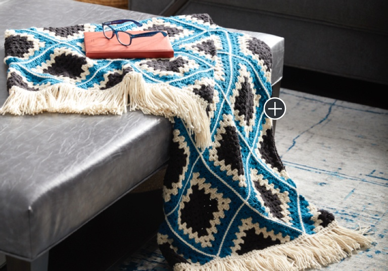 Easy Diamond Crochet Granny Afghan