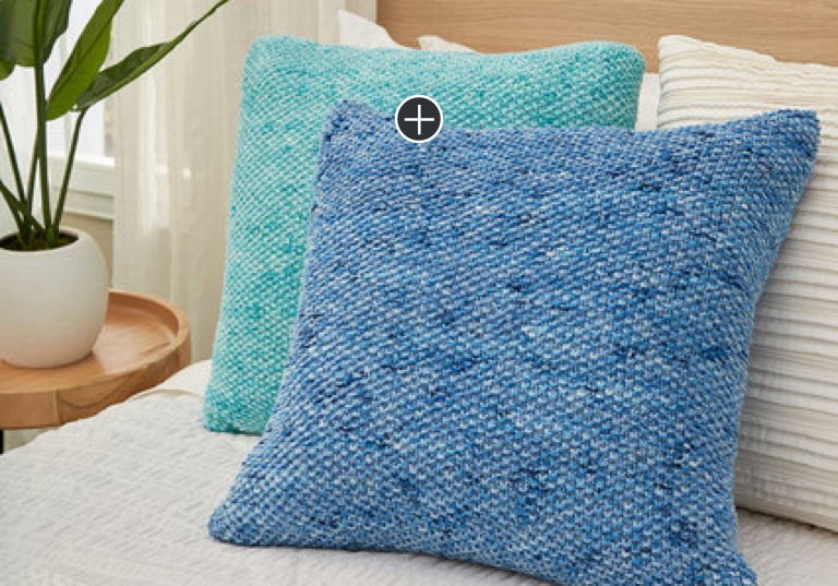 Easy Knit Textured Seed Stitch Pillows