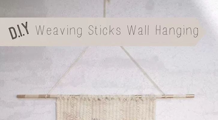 DIY Weaving Sticks Wall Hanging!